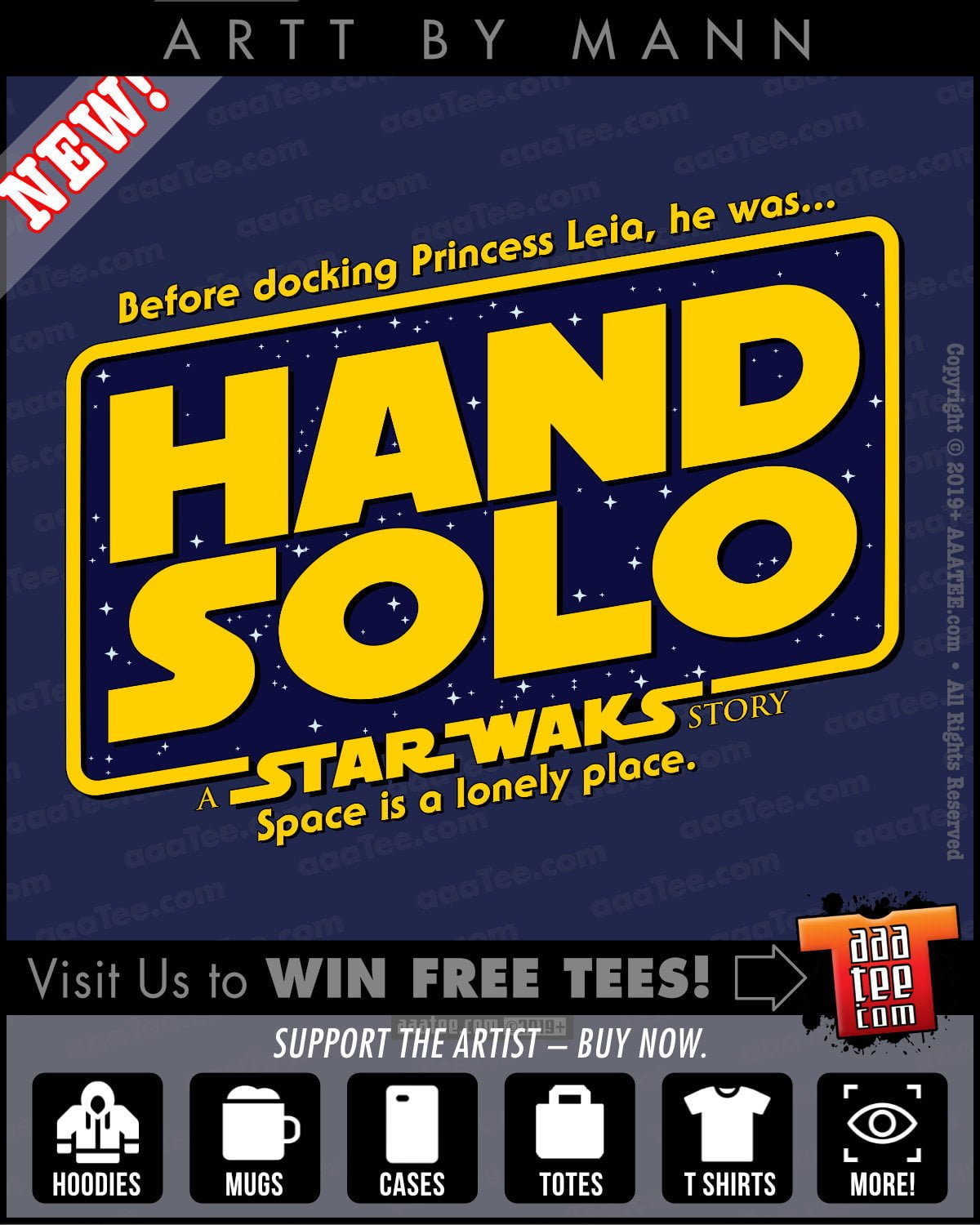 star wars shirts for men - hand solo