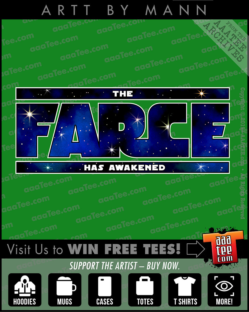 Star Wars style logo - THE FARCE HAS AWAKENED - T shirt + merch