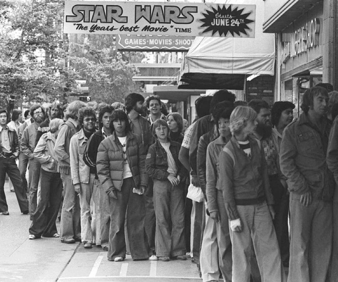 star wars premiere typical line may 1977