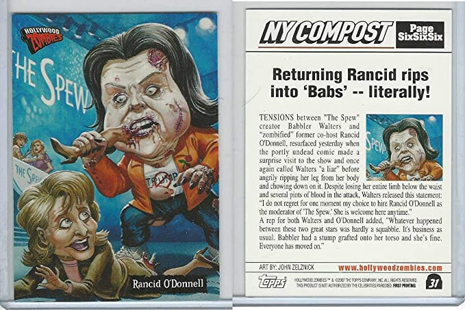 Illustration from HOLLYWOOD ZOMBIES of RANCID O'DONNELL (Rosie O'Donnell)