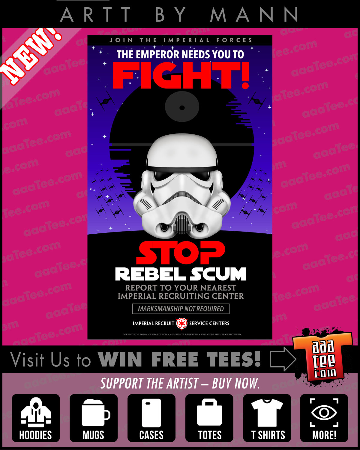 funny star wars shirts - ecruiting poster for the Imperial Storm Troopers