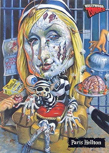 Illustration from HOLLYWOOD ZOMBIES of PARIS HELLTON (Paris Hilton)